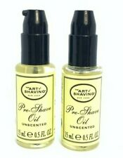 Lot/2 The Art Of Shaving Pre Shave Oil Unscented ~ .5 oz ~