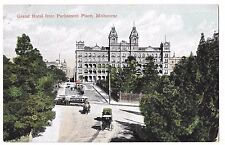 Grand Hotel From Parliament Place, Melbourne PPC c 1910, Shows Tram In Junction