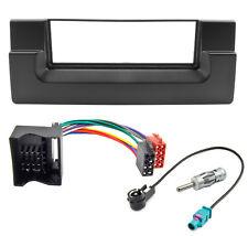 Radioblende Set für BMW 5er E39 X5 E53 Autoradio Blende Adapter Antenne Quadlock