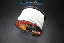 10 GAUGE WIRE ENNIS ELECTRONICS 100 FT WHITE PRIMARY STRANDED AWG COPPER CLAD