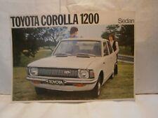 Catalogue  voiture  pub auto  prospectus Toyota Corola 1200 Sedan