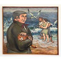 E.J. Hartmann (American, b. 1925) - Untitled Coastal Landscape with Figures