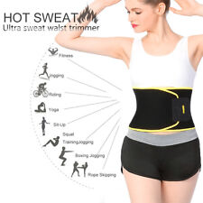 Women Waist Trimmer Belt Sweat Band Wrap Tummy Stomach Weight Loss Fat Burner US