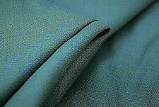 PURE WOOL SUPER 150s MID BLUE PLAIN LUXURY TAILORING FABRIC  MADE IN ITALY E79