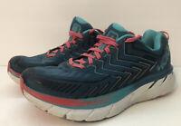 Hoka One One Clifton 4 Women's Sz 9.5 Blue Athletic Running Hiking Trail Shoes