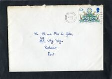 Cover - 1980 Medway Postmark/Stamp. Addressed Rochester with Xmas Card.