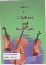 Noten für 2 Violinen (Flöten) und Violoncello (Fagott) (Trio) von Johann Wiendl