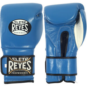 Cleto Reyes Youth Hook and Loop Boxing Gloves - Blue