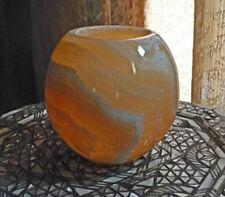 Large Round Globe Votive Candle Holder ~ Authentic Egyptian Alabaster ~ Handmade