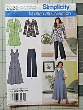 Dress or Jacket Pants BB 20w to 28w Sewing Pattern Womens 2232 Simplicity