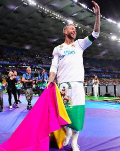 Sergio Ramos Real Madrid Champions League Unsigned 8x10 Photo #2
