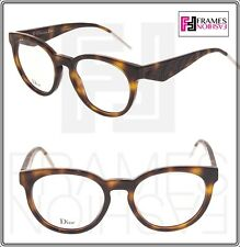1eb49d554 Christian Dior verydior 2O Marrom Havana moiré Cat Eye Óculos ótica Rx 52mm