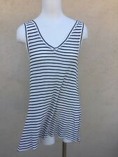 NWT BY MALENE BIRGER BLACK  AND WHITE TANK TOP DRESS TWISTED BACK SMALL