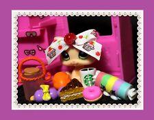 RARE Littlest Pet Shop Vanilla Cream Kitten #1128 Baby Cat SHOPKINS STARBUCKS