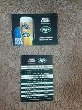 2019 New York Jets (National Football League) Bud Light series pocket schedule