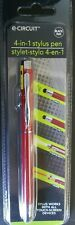 e-Circuit 4-in-1 Red Stylus Pen Flashlight Laser/Black Ink