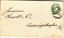 GB 1908 pre stamped 1/2d envelope used