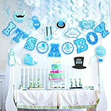 IT'S A BOY Baby Shower Decorations 29 Piece Set BLUE 10 Foot Great for Surprises