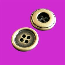 15 Large Big Metal Brass Jacket 4 Holes Sewing Sew On Button 20mm 32L G51