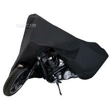 Black Motorcycle Cover For Kawasaki Vulcan VN 750 800 900 1500 1600 1700 2000