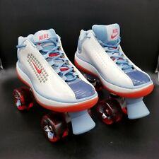 Vintage Retro NIKE Beachcomber Derby Roller Skates Red White & Blue Women's 9.5