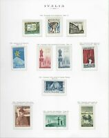 S25609) Italy MNH 1958 Year Set 24v Year 2 Scans (No Services)