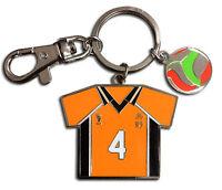 **Legit** Haikyuu Authentic Keychain Yu Nishinoya No.4 Volleyball Uniform #38597