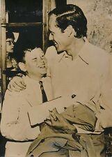Mel Ferrer et son Fils Mark 1955 - Acteur Américain Tournage en Italie - PR 1017
