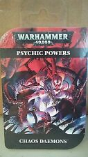 Warhammer 40K Chaos Daemons Psychic Powers New Sealed