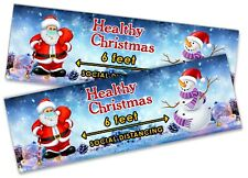 x2 Christmas Banner Xmas Party House Decoration Occasion 219