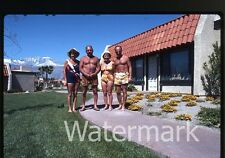 1970s or 1980s  35mm photo slide shirtless men Mature Ladies in bathing suits #2