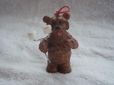 KSA KURT S ADLER BEAR w/ Marshmallows for Roasting Ornament Resin