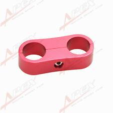 Schlauchhalter 2x20.6mm Stahlflexschlauch Aluminum Rot