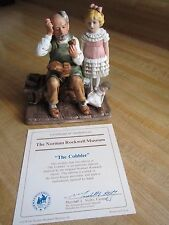 "Vintage Norman Rockwell Museum 1980 ""The Cobbler"" Porcelain Figurine with COA"