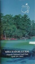 2001 MASTERS SPECTATOR GUIDE (TIGER WOODS 2ND WIN