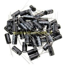 50PCS Electrolytic Capacitor 100/220/330/470/680/820/1000/3300uF 25V 10V 16V 50V