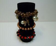 Bracelet jewellery display roll for elasticated bracelets (black)