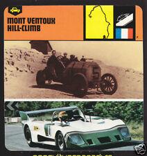 MONT VENTOUX HILL-CLIMB History CARD Cagno 1905 Fiat