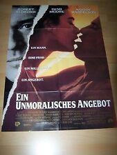 EIN UNMORALISCHES ANGEBOT - Kinoplakat A1 ´93 - ROBERT REDFORD Demi Moore
