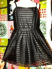 ROBE GLAM ROCK TULLE DOS ZIP APPARENT COLLECTION ROCK H&M SOIREE TUK  XS OU 34