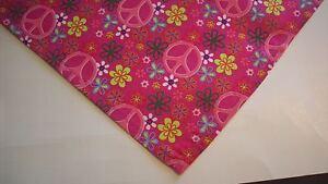 Dog Bandana/Scarf, Cotton, Tie/Slide On, Pink, Custom Made by Linda, XS