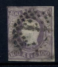 PORTUGAL 1866 100r PURPLE IMPERF 3 MARGINS FAIR