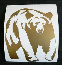Adesivo ORSO auto moto wall vetro sticker Bear forest foresta hunter cacciatori