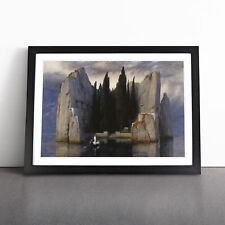 More details for the isle of the dead vol.2 by arnold bocklin wall art framed print picture