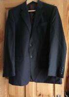"Berwin Berwin Chester Super 100s Classic Fit Men's Blue Wool Suit Jacket  40""Reg"