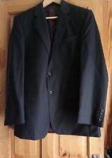 "Berwin Berwin Chester Super 100s Classic Fit Men's Blue Wool Suit Jacket  40""Reg"