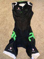 Nalini Large Tri Suit Sleeveless Black & Green Triathlon Swim Cycling Run L