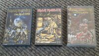 3 cassette tape LOT Iron Maiden piece of mind/live after death/Somewhere in time