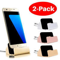Charging Base Holder Stand For Samsung Galaxy S10 S9 S8  Type-C Charger Lot x 2