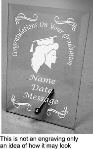 Plain / Engraved Personalised Glass Plaque Graduation
